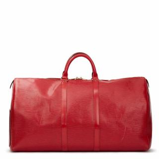 Louis Vuitton Red Epi Leather Vintage Keepall 55