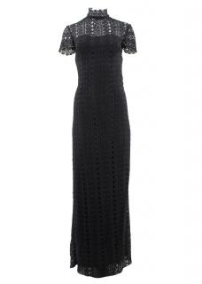 Stasia Long Lace Embroidered Dress