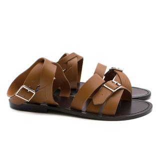 Marni Strappy Brown Sandals