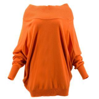 Alexander McQueen Orange Knit Jumper