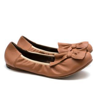 Marni Bow Ballerina Flats
