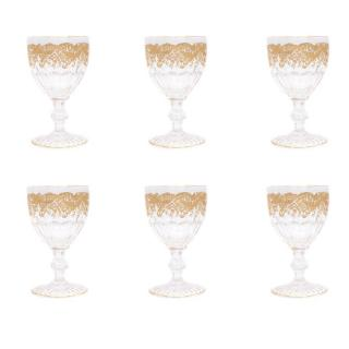 Saint Louis France Trianon Set of Six Water Goblets