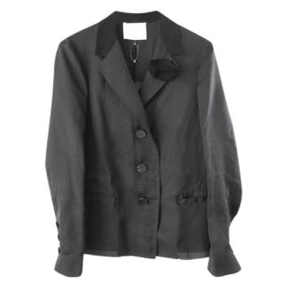 Lanvin black silk jacket.
