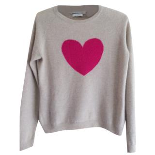 Clements Ribero ladies cashmere jumper with heart