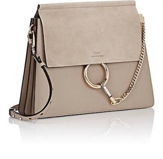 Chloe Faye suede and leather cross-body bag