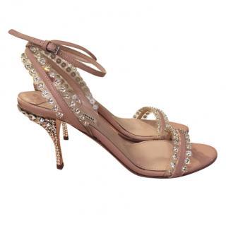 Miu Miu Crystal Embellished Sandals
