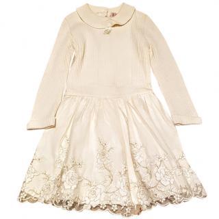 BLUMARINE Baby Dress Cream and gold 18 m