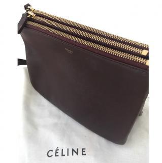 Celine Burgundy Trio bag