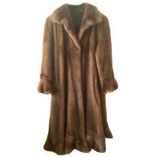 MINK FUR COAT Luxurious full length furcoat