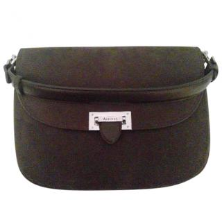 Aspinal of London The Letterbox Slouchy Saddle Bag Chrome Hardware