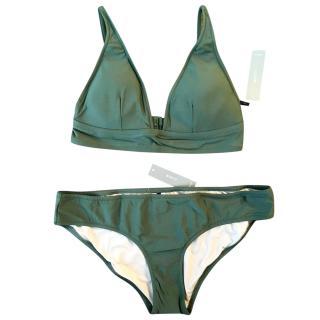 J.Crew two-piece bikini set (khaki)