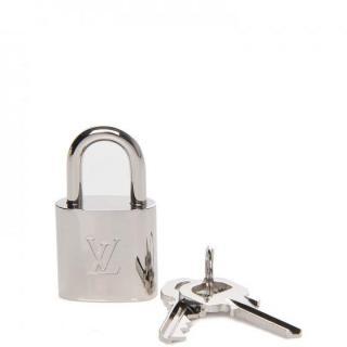 Louis Vuitton silver/chrome locker and keys set