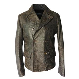 Gucci Caban Leather Jacket