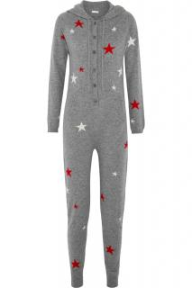 CHINTI AND PARKER Hooded star-intarsia cashmere jumpsuit