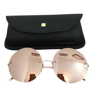 Linda Farrow Rose Gold Sunglasses