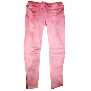 Pierre Balmain pink skinny jeans