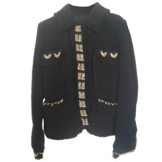 Gaetano Navarra black boucle blazer