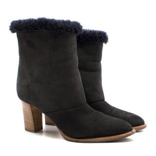 Chloe Sheepskin Fur Ankle Boots