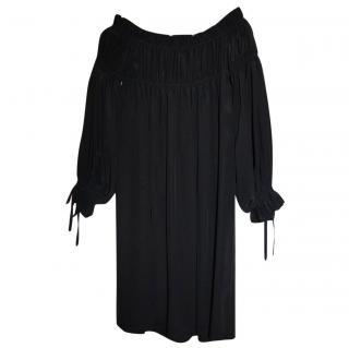 Alexander Mcqueen Black Silk Dress
