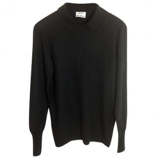 ACNE Black merino wool sweater