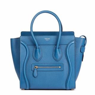 Celine Chevre Goatskin Leather Micro Luggage Tote