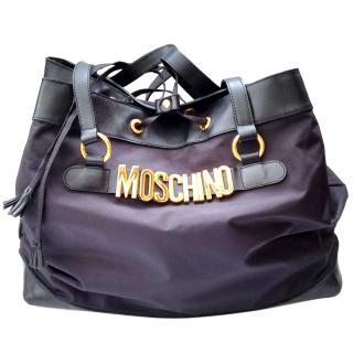 MOSCHINO by Redwall Vintage Black Shoulder Tote Drawstring bag