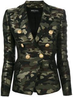 Balmain Classic Double breast Blazer Camouflage 2017