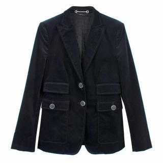 Gucci Black Cotton Blazer Jacket