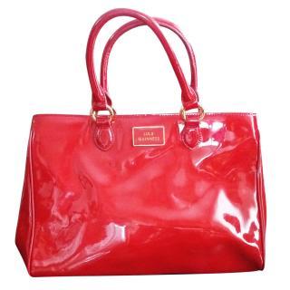 Lulu Guinness Amelia Patent Leather Tote Handbag