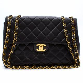 Chanel Black Lambskin Leather Quilted Bag