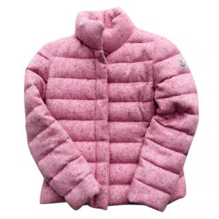 Moncler tweed wool down jacket coat