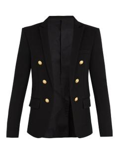 BALMAIN Button-detail wool blazer