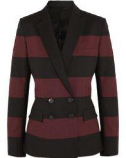 Jonathan Saunders Red Juliette Striped Wool Blazer