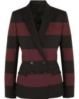 Jonathan Saunders Red Juliette Striped Wool Blazer