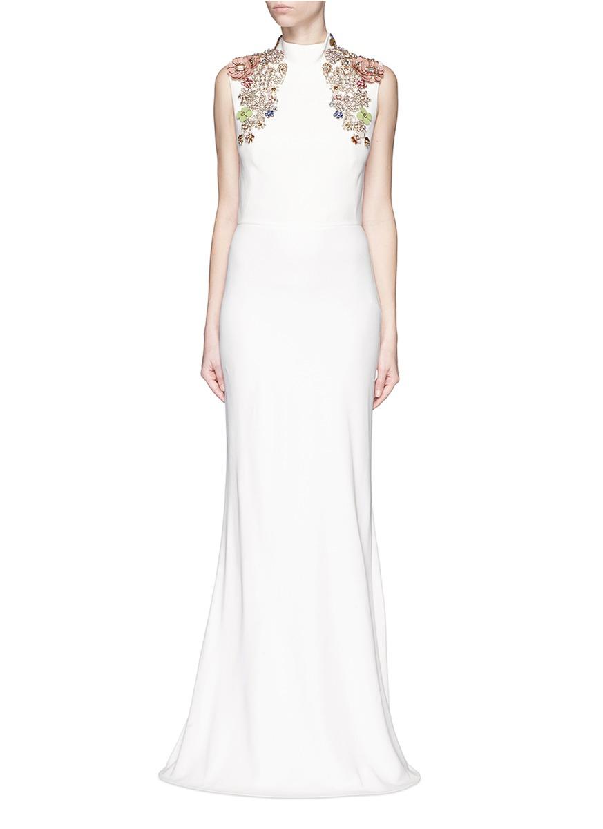 Alexander Mcqueen Embellished Shoulder Gown | HEWI London