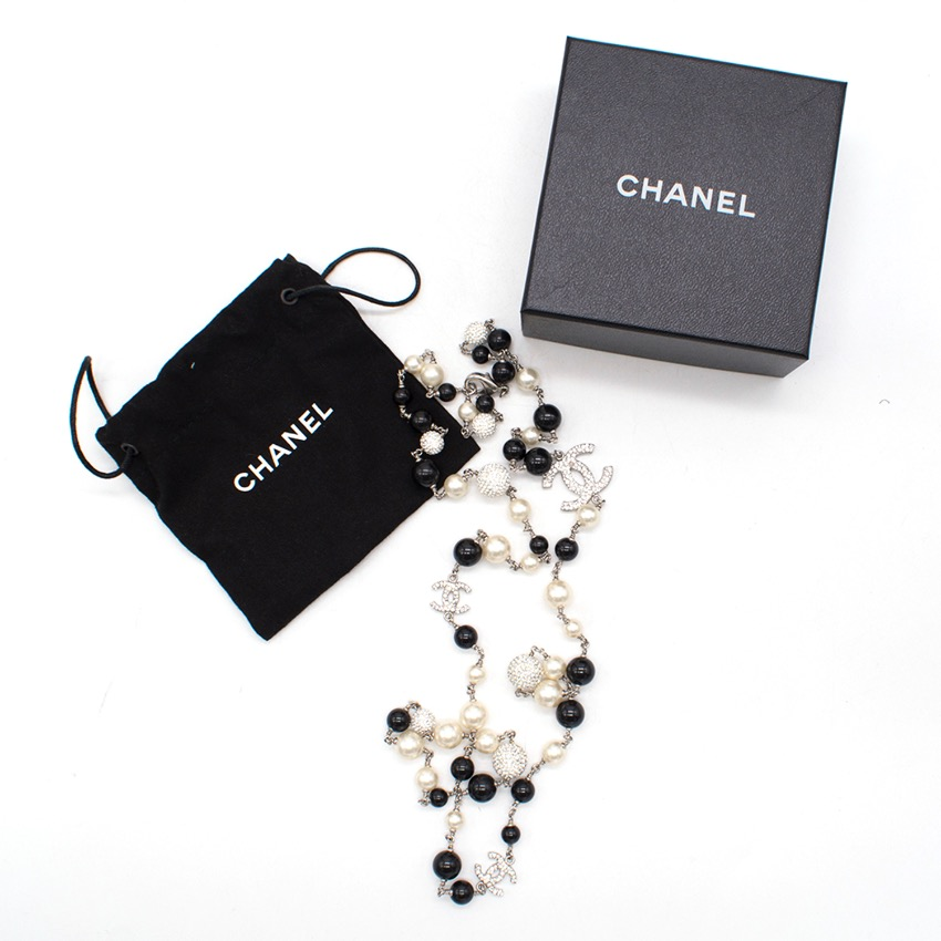 Chanel Beaded CC Logo Necklace