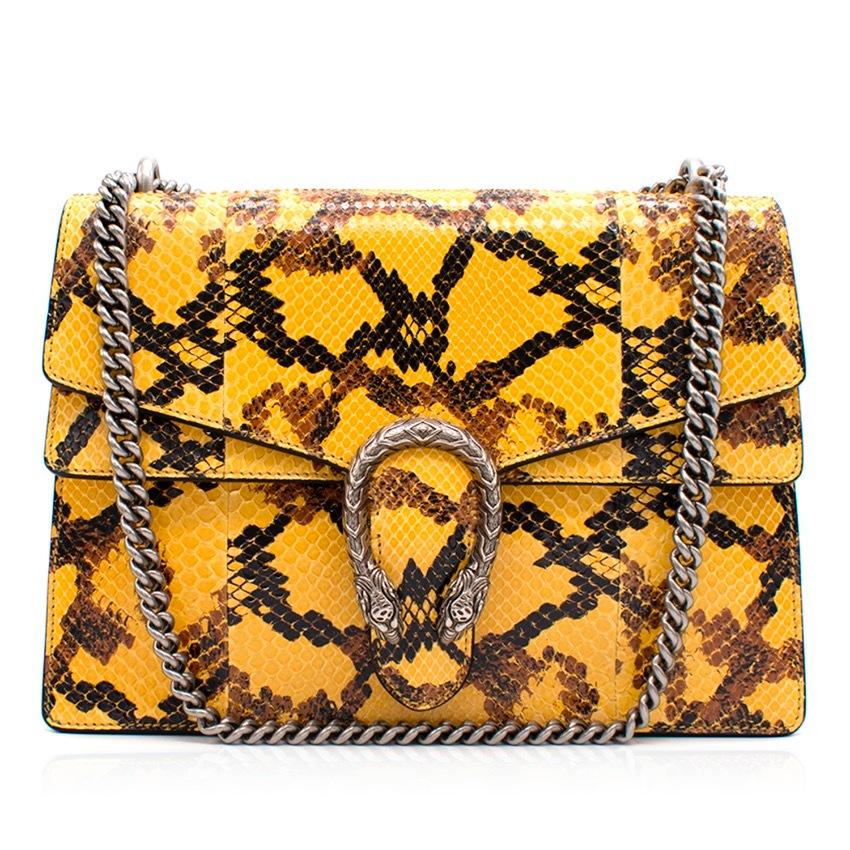 76506262e0 Gucci Dionysus Yellow Python Shoulder Bag