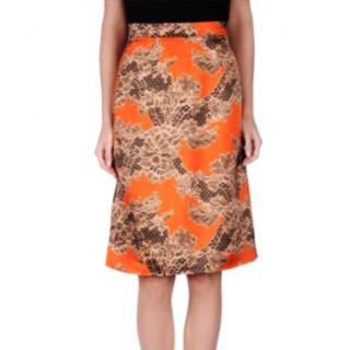 Jonathan Saunders Orange Knee Length Skirt