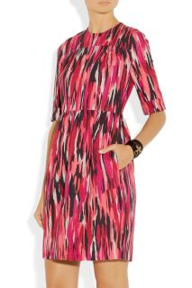 JONATHAN SAUNDERS Mila printed slub cotton-blend dress