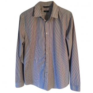 PAUL SMITH 'The Bogard' multi striped cotton casual shirt in white, te