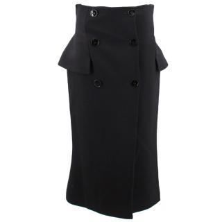 Alexander McQueen Wool Button-Up Skirt