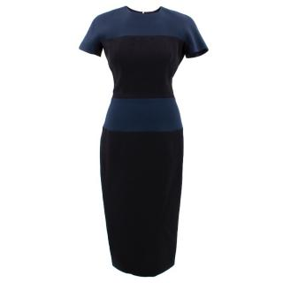 Victoria Beckham Fitted Colorblock Dress
