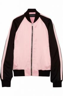 JONATHAN SAUNDERS Mary Paneled Satin Bomber Jacket