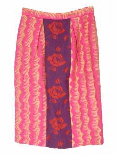 Miu Miu jacquard pink skirt