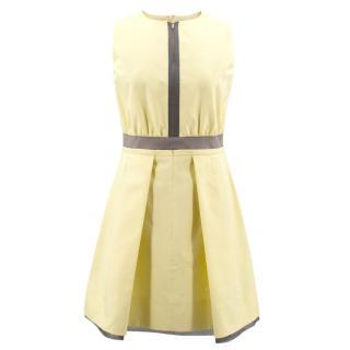 Victoria Beckham Yellow Shift Dress