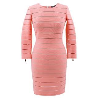 Balmain Pink Bandage & Tulle Dress