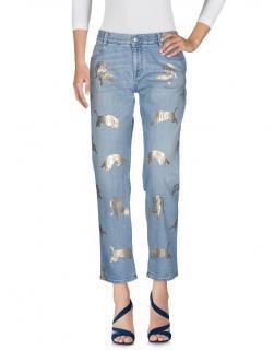 Stella McCartney gold panther skinny jeans