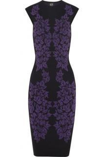 McQ Alexander McQueen leaf intarsia dress