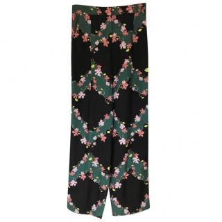 Emilio Pucci Silk Printed Trousers