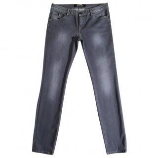 KARL LAGERFELD grey faded skinny stretchy jeans